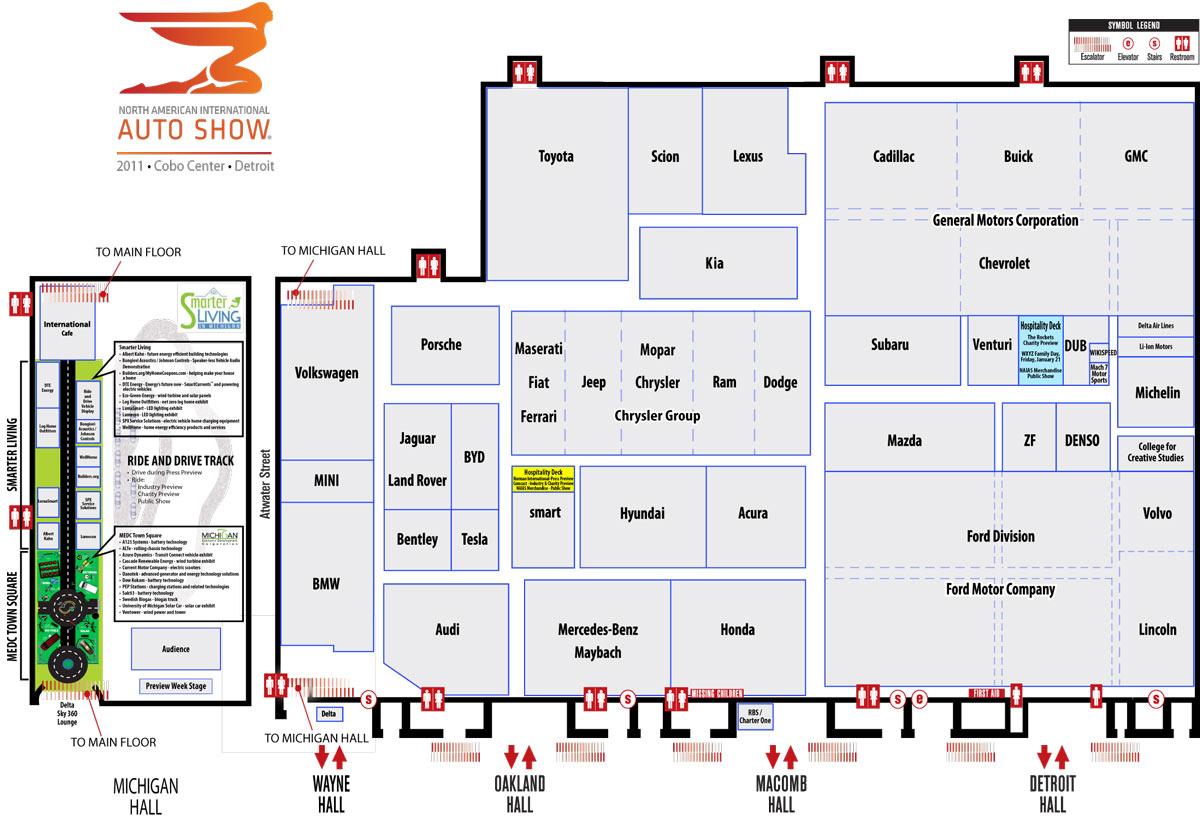 detroit auto show map