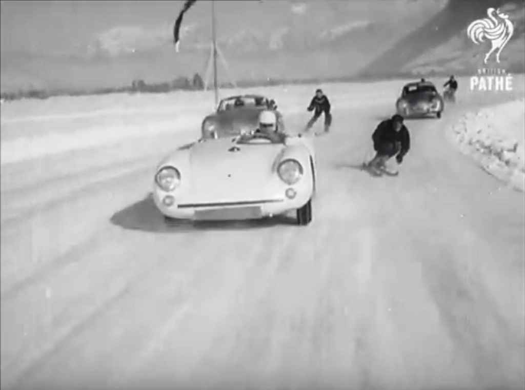 1955 Winter Vintage Porsche Motor Skiing With A Twist The World S Most Dangerous Sport