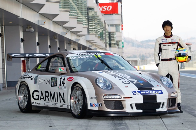 Porsche 911 GT3 Cup, Garmin Team: Ryo Hirakawa Carrera Cup Japan - Season 2012 - Source: Porsche AG