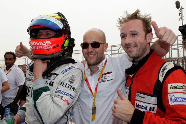 Norbert Siedler (A), Walter Lechner, René Rast (D) Porsche Mobil 1 Supercup Bahrain 2012