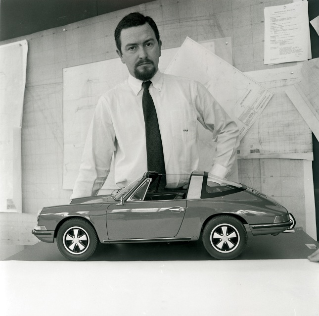 Ferdinand Alexander Porsche with model 911 S Targa (1968)