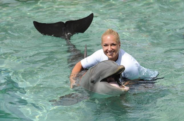 Sabine Lisicki im Miami Seaquarium