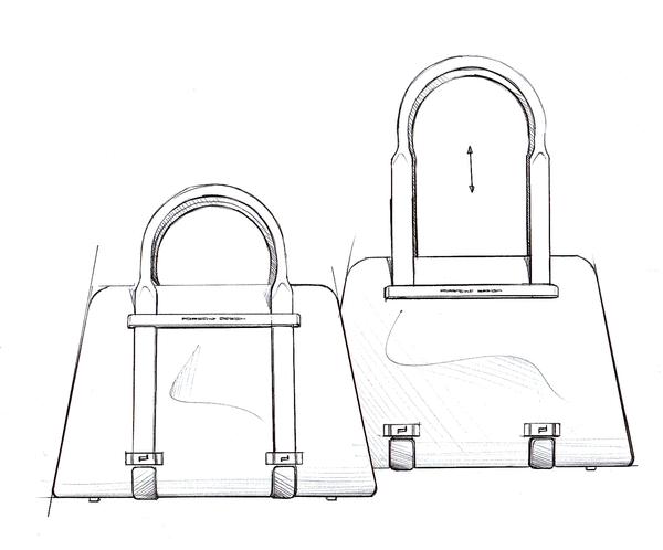 Sketch Porsche Design TwinBag