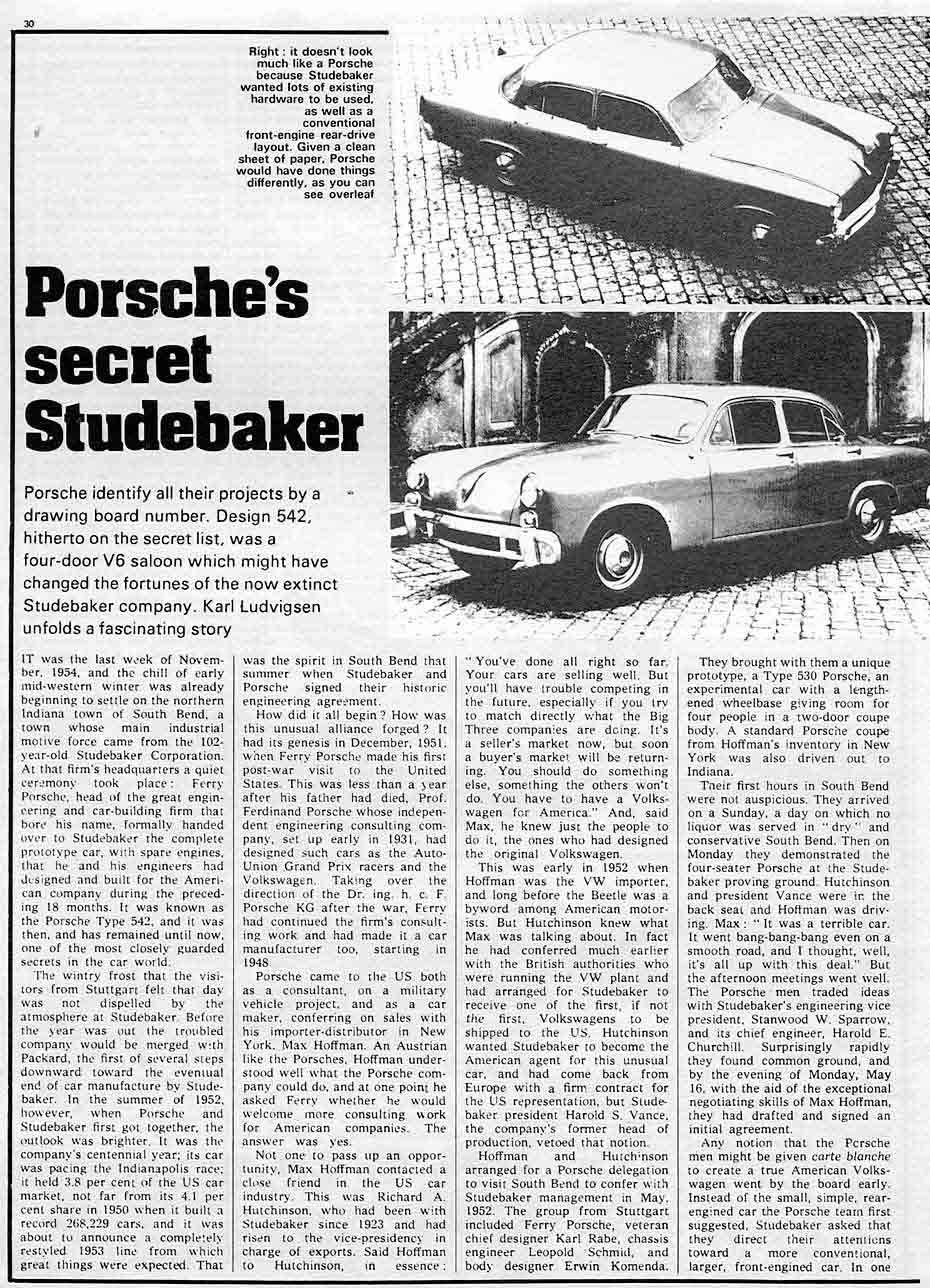 Porsches Secret Studebaker Identified On The Drawing Board As Luggage Compartment Light Wiring Diagram For 1956 Passenger Car Turning Wheels