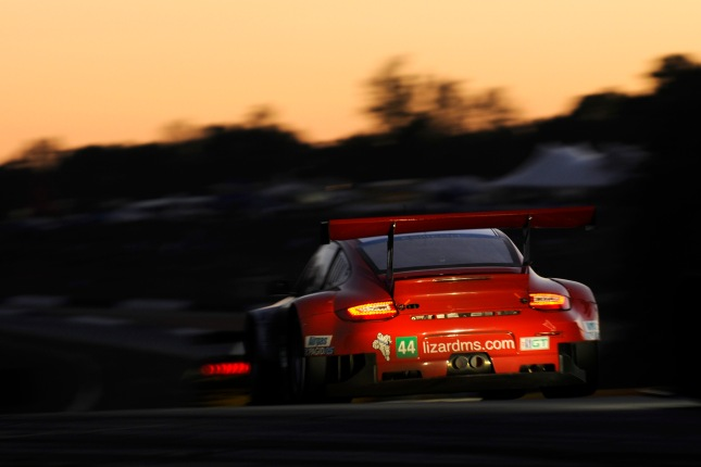 2012 ALMS - Petit Le MansPorsche 911 GT3 RSR, Flying Lizard Motorsports: Marco Holzer, Seth Neiman, Nick Tandy
