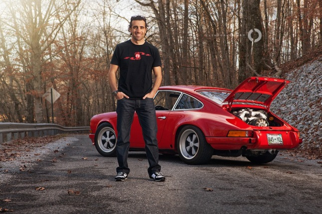 DARIO FRANCHITTI AND HIS PORSCHE 911 HOT ROD...photo by Clint Davis