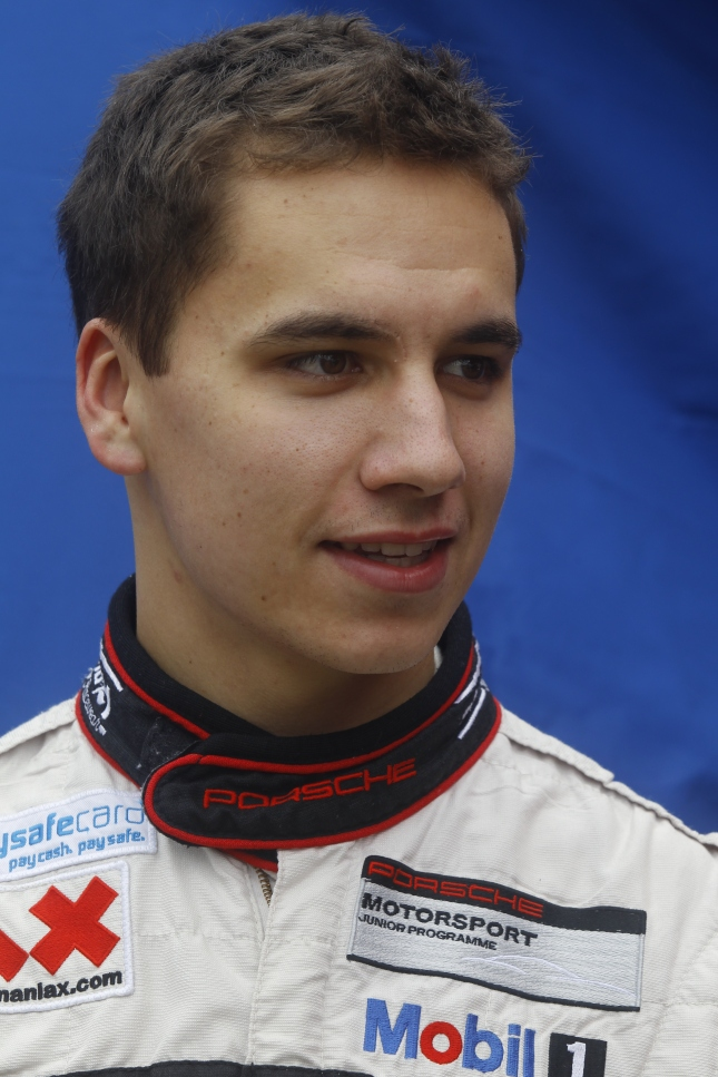 Porsche junior driver Klaus Bachler, 21, of Unzmarkt, Austria