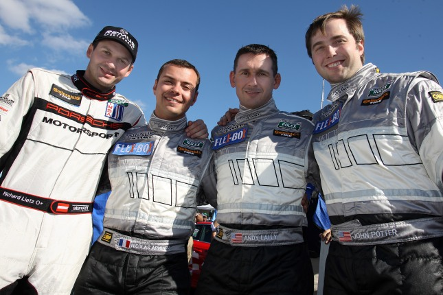 (l.-r.): Richard Lietz, Nicolas Armindo, Andy Lally, John Potter