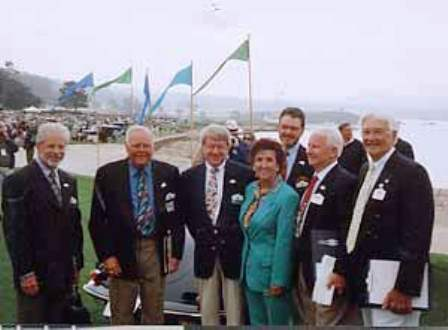 lse Nädele Porsche Club Coordinator and Pebble Beach Concours de Elegance judges left to right Dennis Frick, Bruce Anderson, Dale Miller, Mark Smedley, Weldon Scrogham, and Kirby Hollis. Source: Bruce Anderson's Blogspot