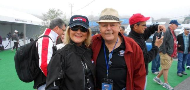Bruce Anderson and me at Rennsport IV, Laguna Seca, Mazda raceway, Monterey, California the weekend of October 14 – 16, 2011