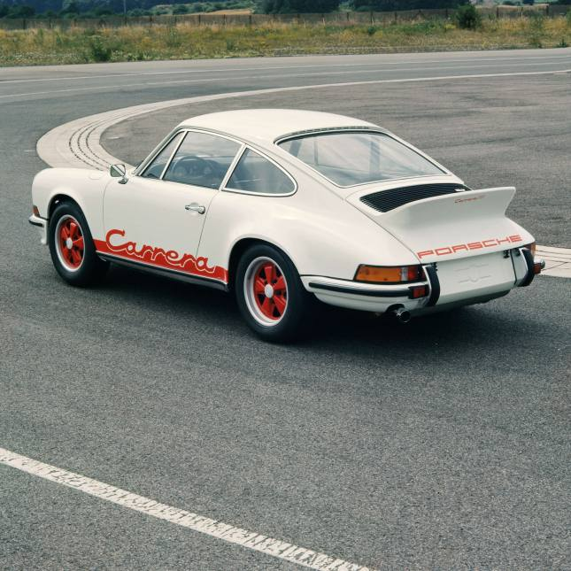Porsche 911 Carrera RS 2.7 Coupé, August 1972, test logo