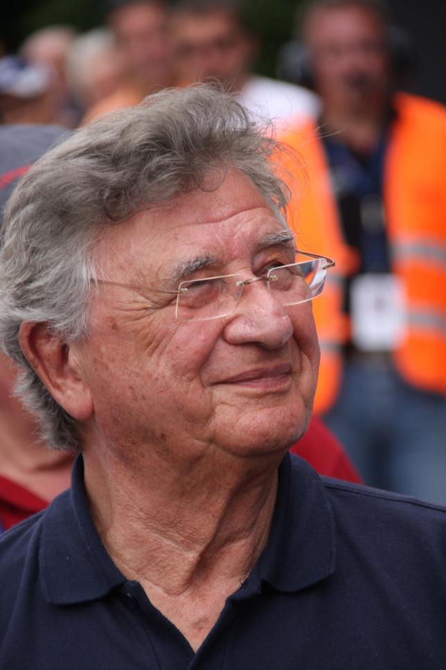 Porsche works driver Hans Herrmann turns 85.
