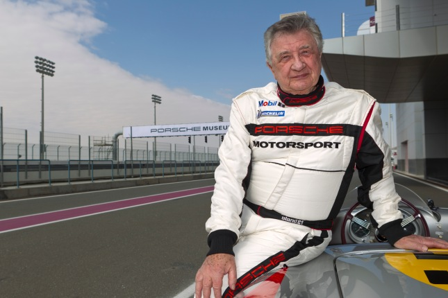 As a pilot of historic racecars, Hans Herrmann still takes part in many vintage car events for the Porsche Museum.