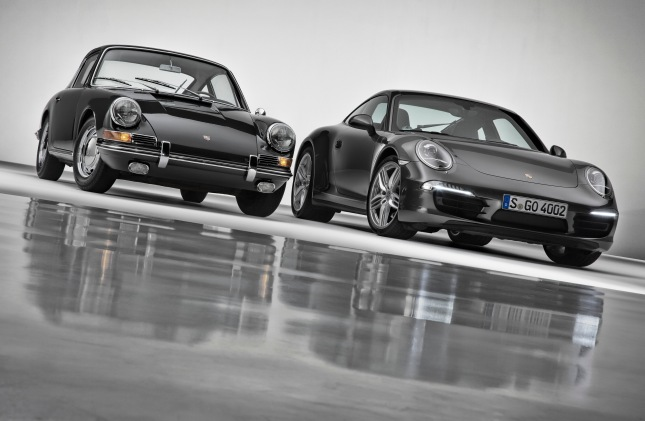 Porsche 911 Carrera 4S Coupé and Porsche 911 2.0 Coupé (Model Year 1964)