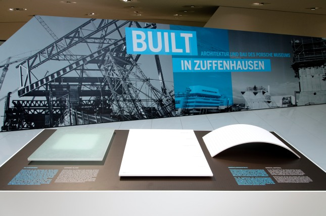 Visitors to the special exhibition will learn more about the construction techniques employed for the museum from a selection of material samples.