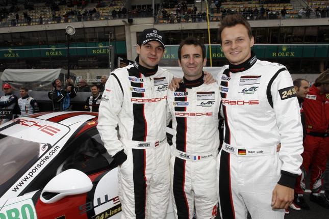 Richard Lietz, Romain Dumas, Marc Lieb, Porsche AG Team Manthey