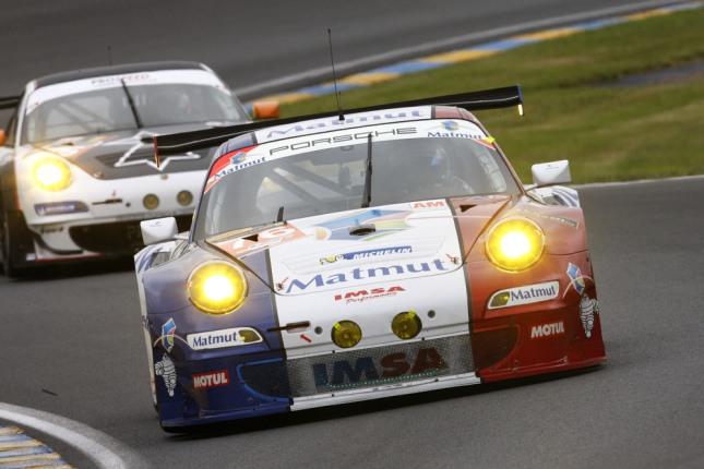 Porsche 911 GT3 RSR, IMSA Performance Matmut, Raymond Narac, Christophe Bourret, Jean-Karl Vernay