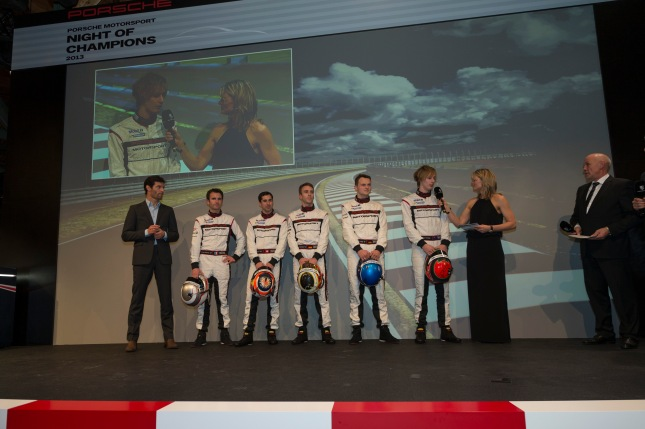 Driver squad Porsche LMP1, Mark Webber, Romain Dumas, Neel Jani, Timo Bernhard, Marc Lieb, Brendon Hartley (l-r)