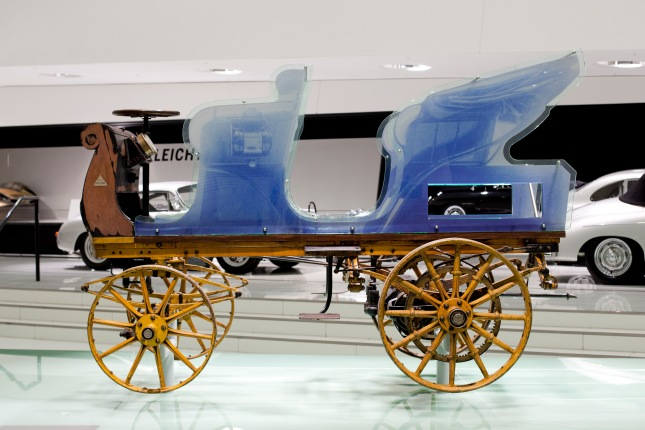 On February 1st, 2014 for the very first time on display at the Porsche Museum: The first design of Ferdinand Porsche from 1898.