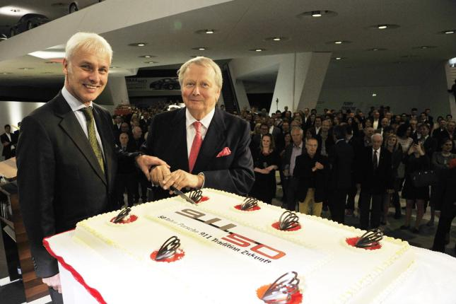 Dr. Wolfgang Porsche and Matthias Müller open the Porsche Museum 50 Years of 911 anniversary