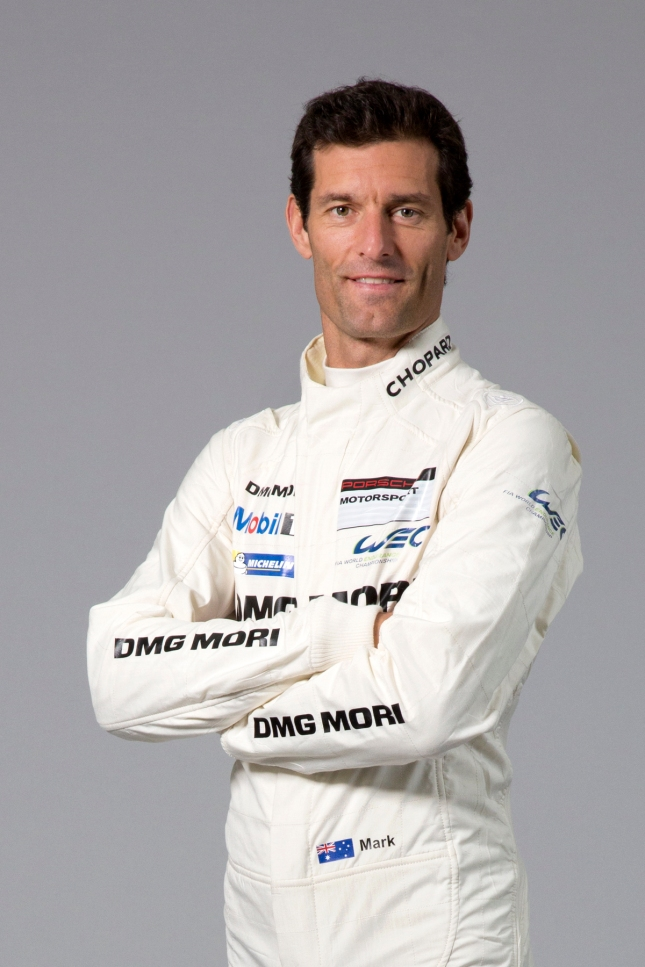 Porsche works driver Mark Webber