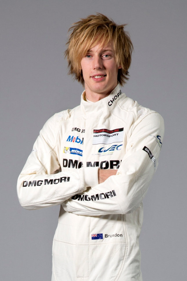 Porsche works driver Brendon Hartley