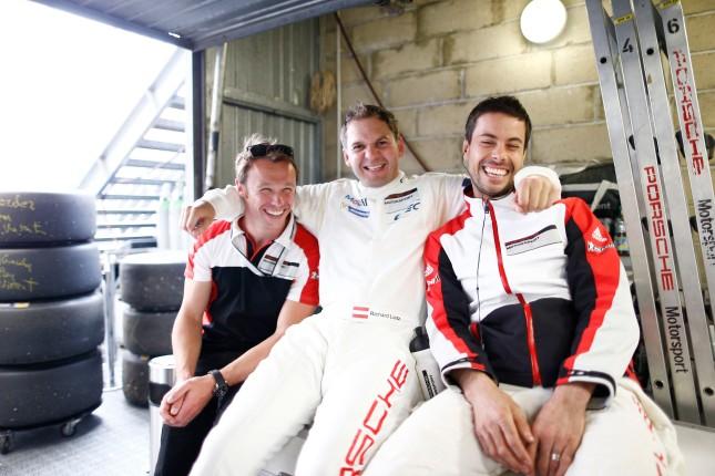 Porsche 911 RSR, Porsche Team Manthey: (l-r) Patrick Pilet, Richard Lietz, Frederic Makowiecki