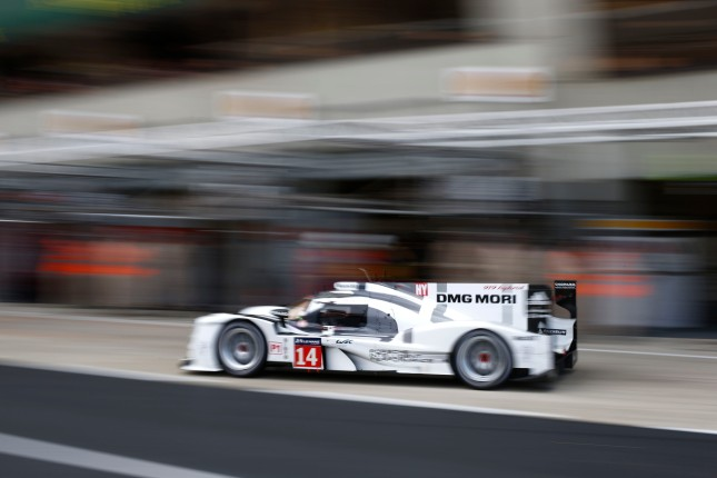 Porsche 919 Hybrid, Porsche Team: Romain Dumas, Neel Jani, Marc Lieb, during the 2014 Le Mans 24 hours test day, on June 1st 2014, at Le Mans circuit, France. Photo Florent Gooden / DPPI