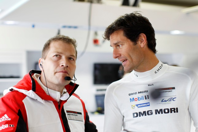 Porsche Team: Andreas Seidl, Mark Webber