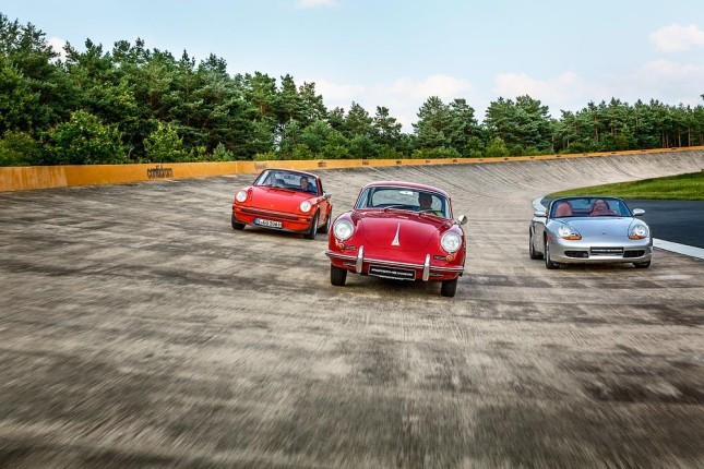 Tyre tests for classic Porsche cars: 356, 911 Carrera G-Modell, first generation Boxster