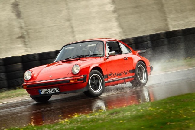 Tyre tests for classic Porsche cars: 911 Carrera G-Modell (1975)