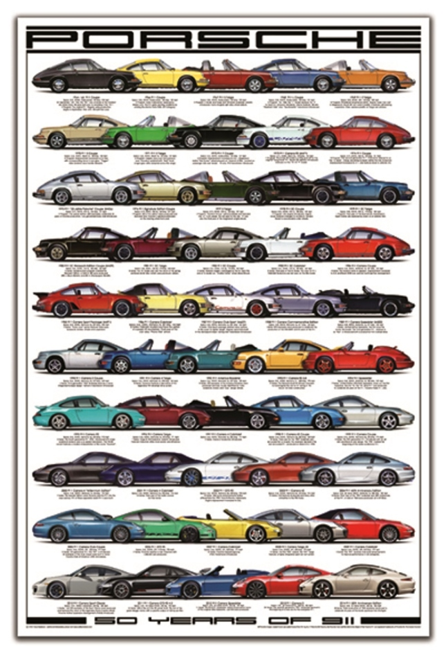 Porsche Poster 50 Years Of 911 New Print Release By