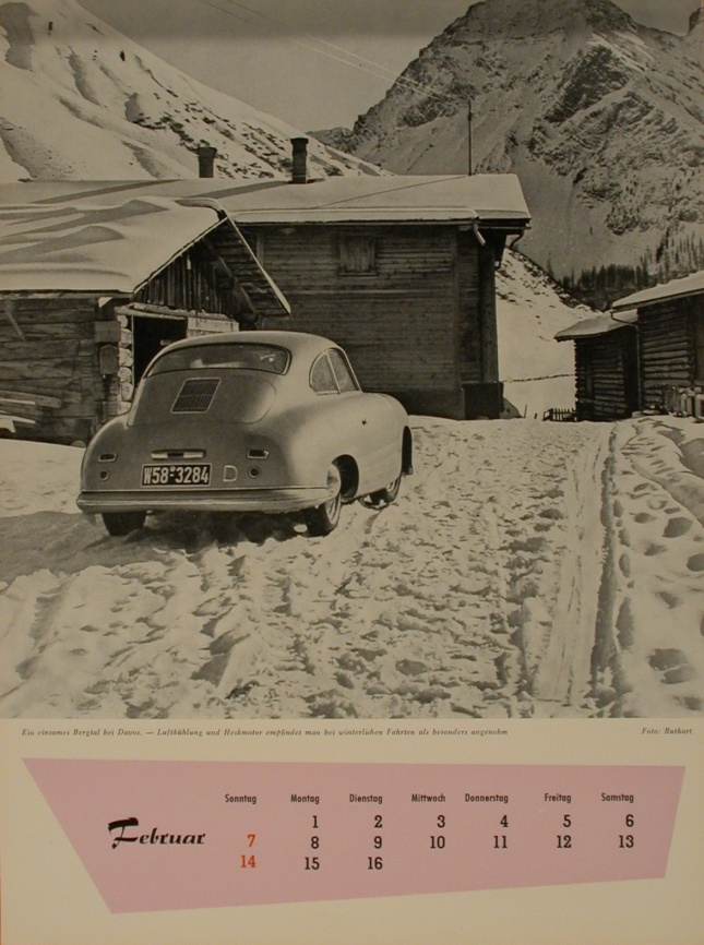 The Porsche Calendar 1954 February